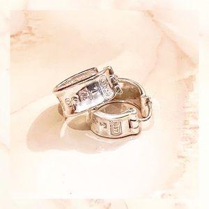 ▪️ tiffany & co. 1837 wide hoop earrings sterling